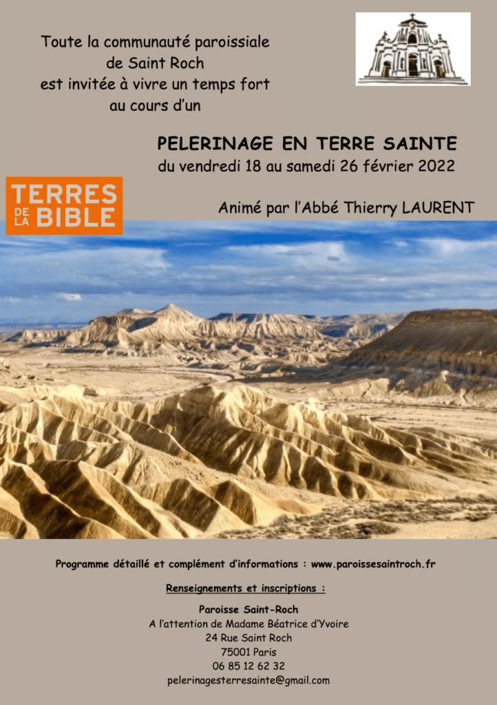 Voyage en Terre Sainte - Affiche